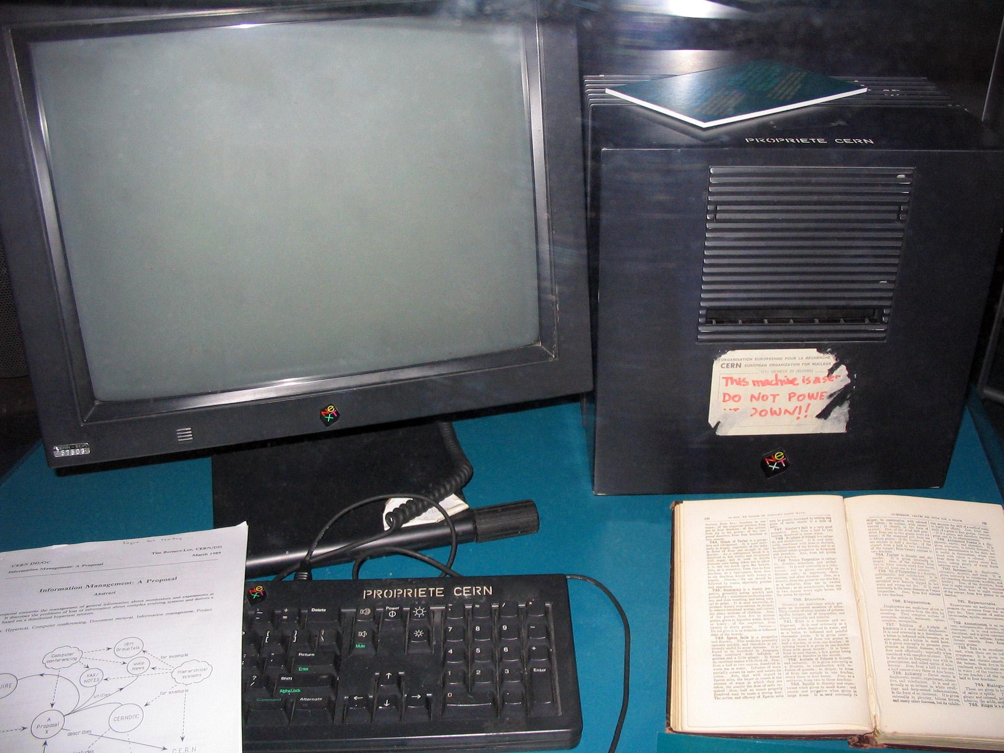 Il Next Cube di Tim Berners-Lee usato come primo Web Server