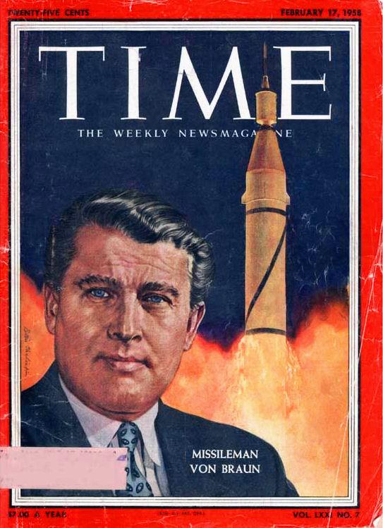 Wernher von Braun su Time Magazine