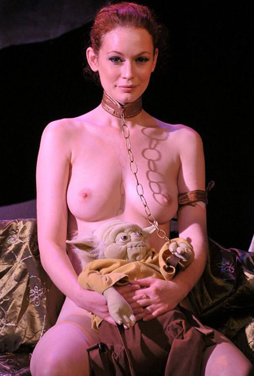 Justine Joli as a topless Leia