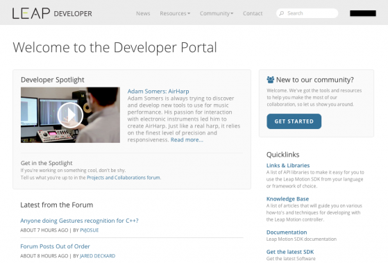 Leap Developer Portal