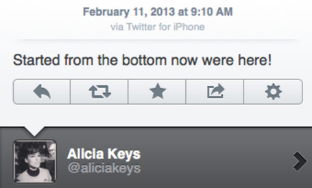 Alicia Keys tweet