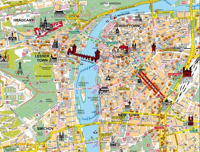 Mappa di Praga