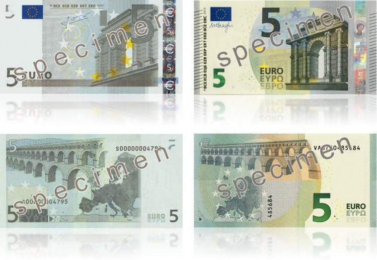 nuovi 5 euro