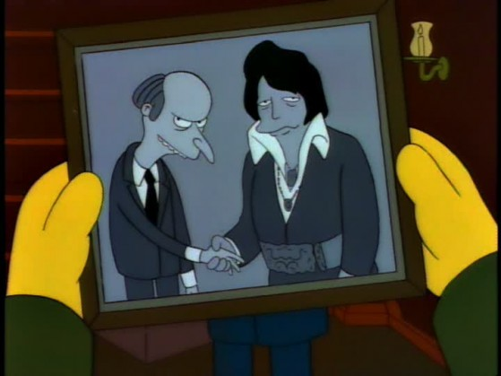 Simpsons Elvis Burns