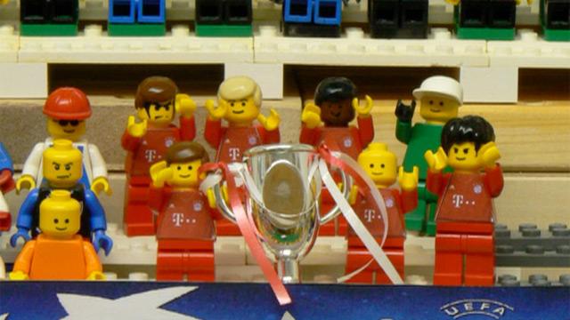 La finale di Champions League riprodotta con i Lego