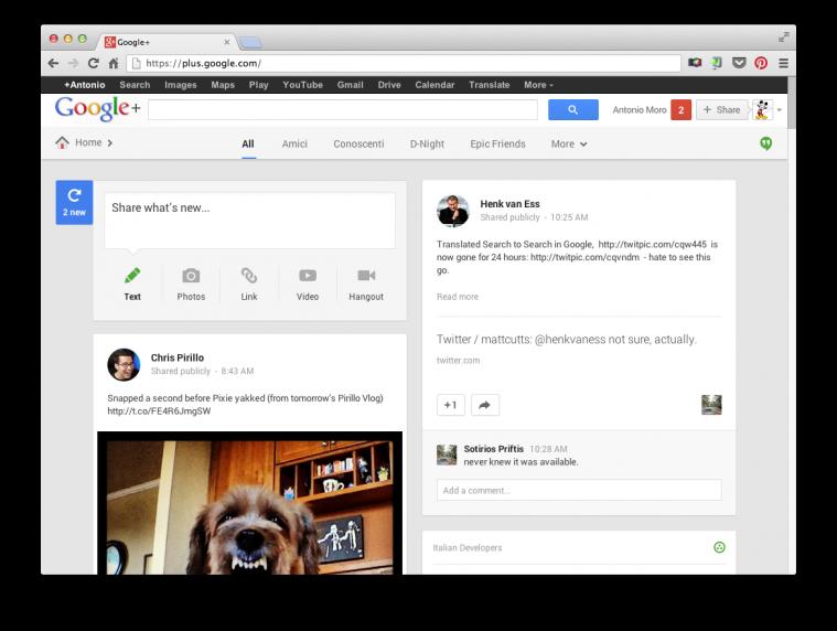 Nuovo Google+