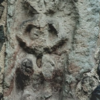 Sheela-Na-Gig a Church Stretton, Inghilterra