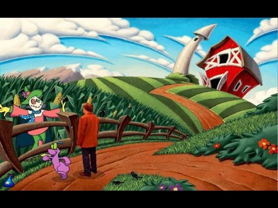 """La fattoria e il """"carecrow"""" simbolo di Cutopia."""