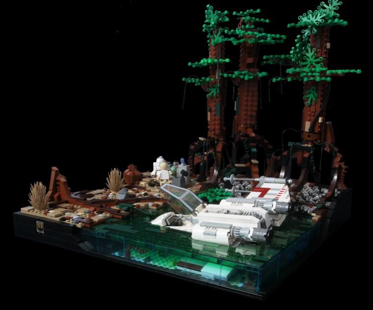 Lego Yoda e Luke su Dagobah
