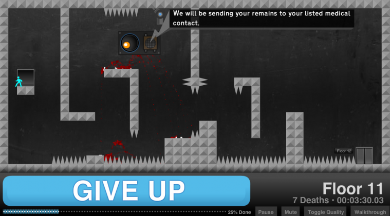 Give Up - Web Game