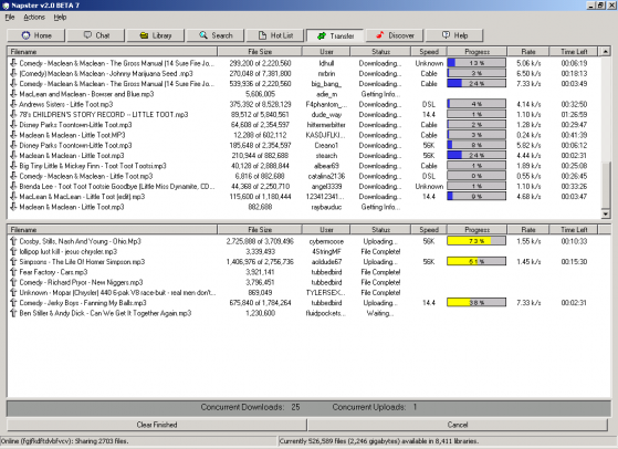 Napster_2.0_Beta_7_screenshot
