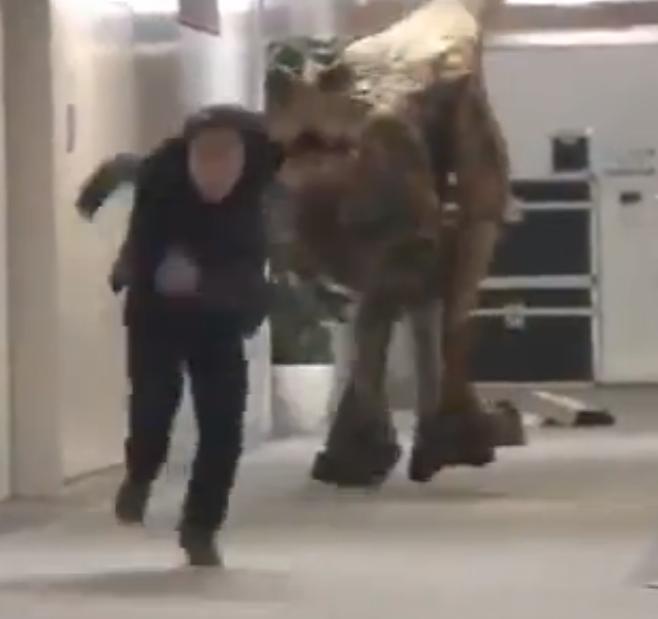 Un dinosauro nell'ufficio