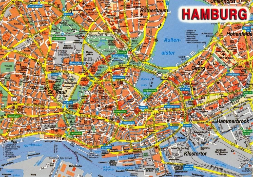 Hamburg-map