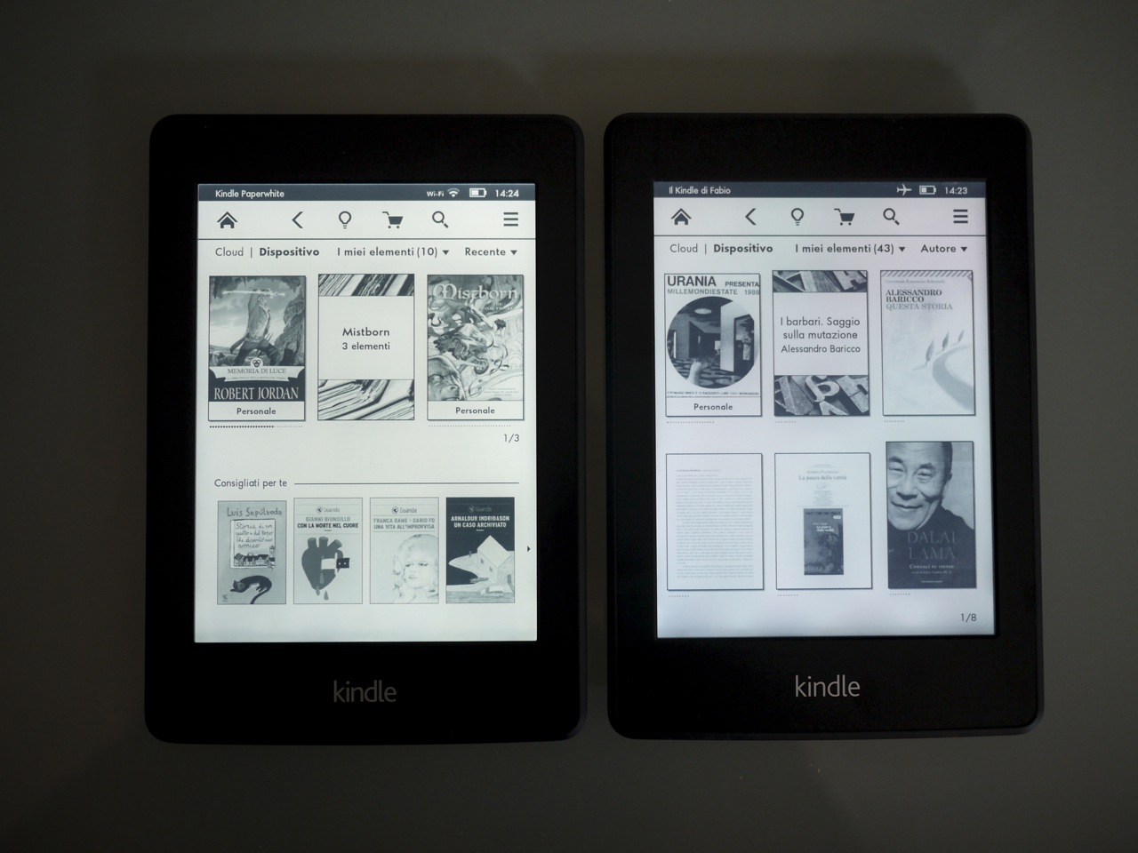 Illuminazione kindle paperwhite kobo glo ebook reader con