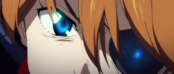 """Asuka con un occhio bendato, ma cosa si vede nel suo occhio ? cosa sono quelle """"rune"""" ???"""