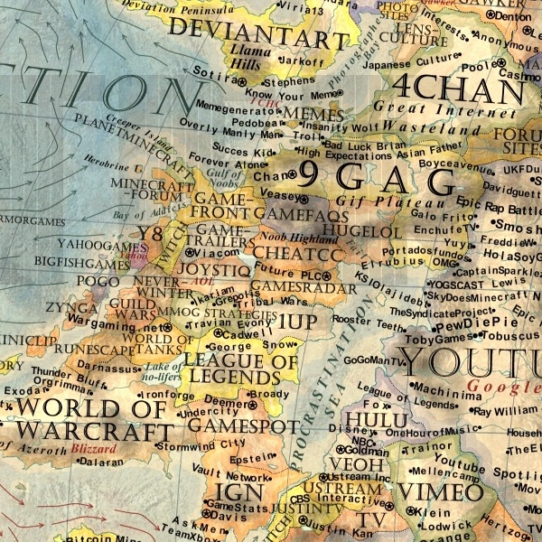 La mappa dell'Internet