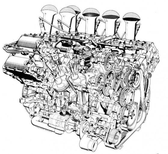 Cosworth DFV cutaway