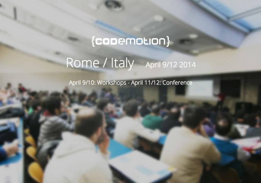 Codemotion Roma