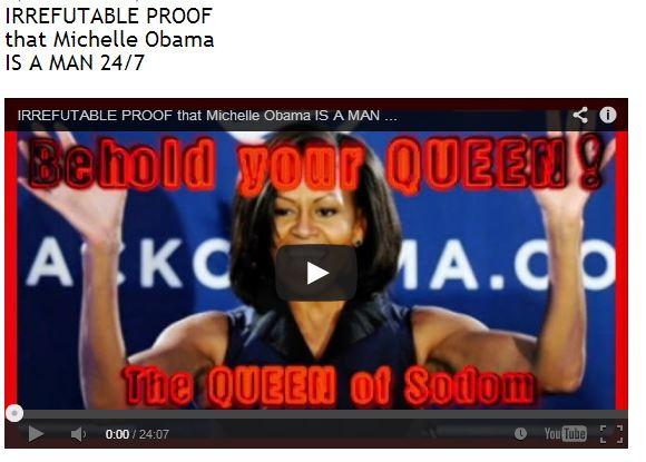 Per chi non sapesse l'inglese: prove inconfutabili che Michelle Obama è un uomo!!!