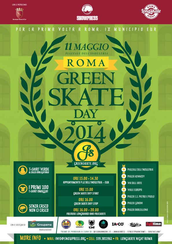 Green Skate Day Roma: 11 Maggio 2014