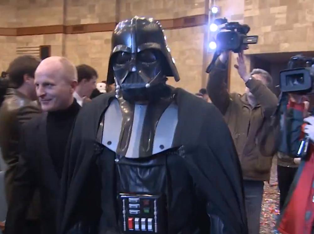 Darth Vader candidato alla presidenza dell'Ucraina