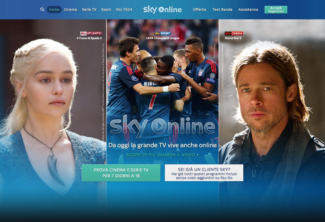 Sky Online ora disponibile, ma solo per dispositivi Samsung
