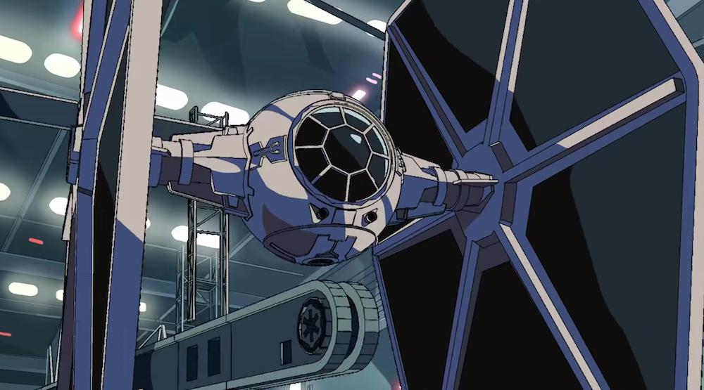 Star Wars Tie Fighter Animation