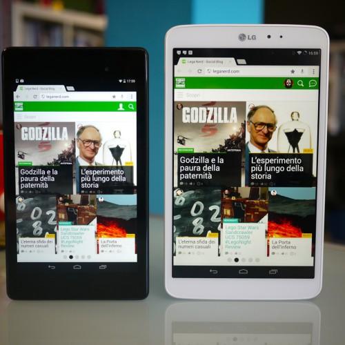 LG G Pad 8.3 Vs. Nexus 724