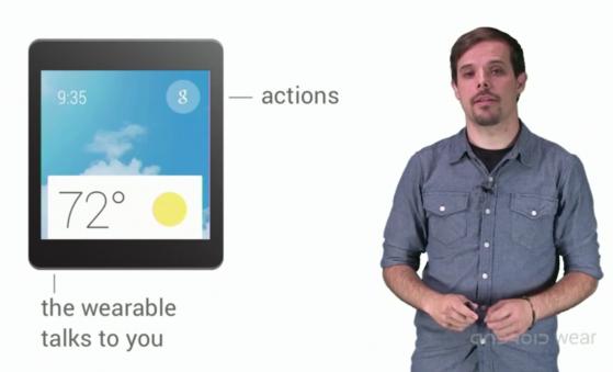 Un frammento del video di presentazione di Android Wear
