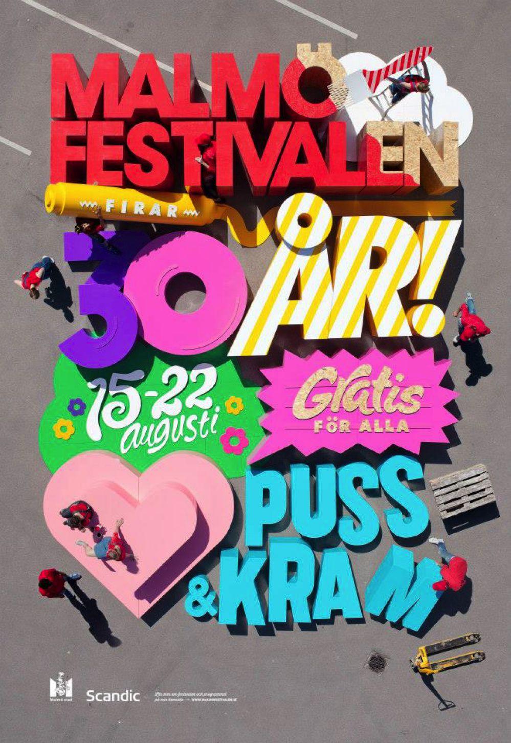 Il gigantesco poster 3D del Malmö Festivalen