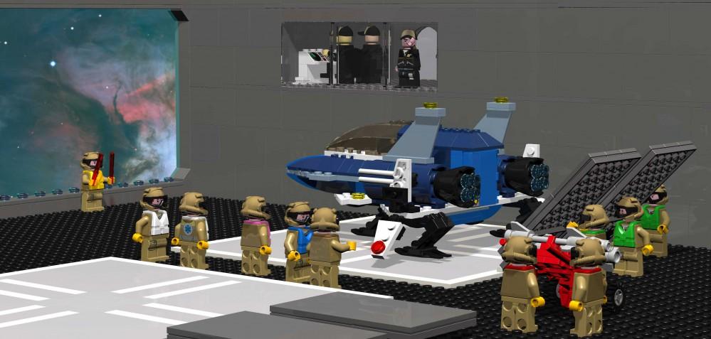 Minifighter - 16 (hangar scene)