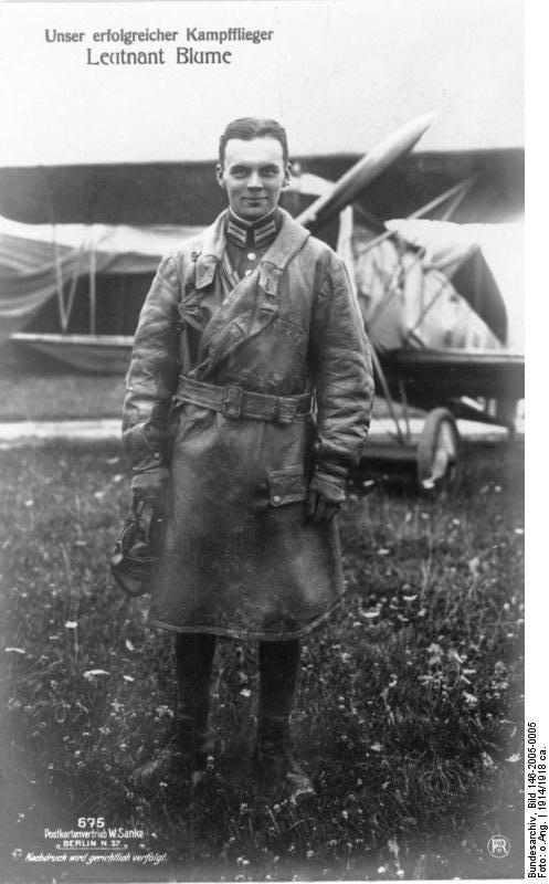 Unser erfolgreicher Kampfflieger Leutnant Blume
