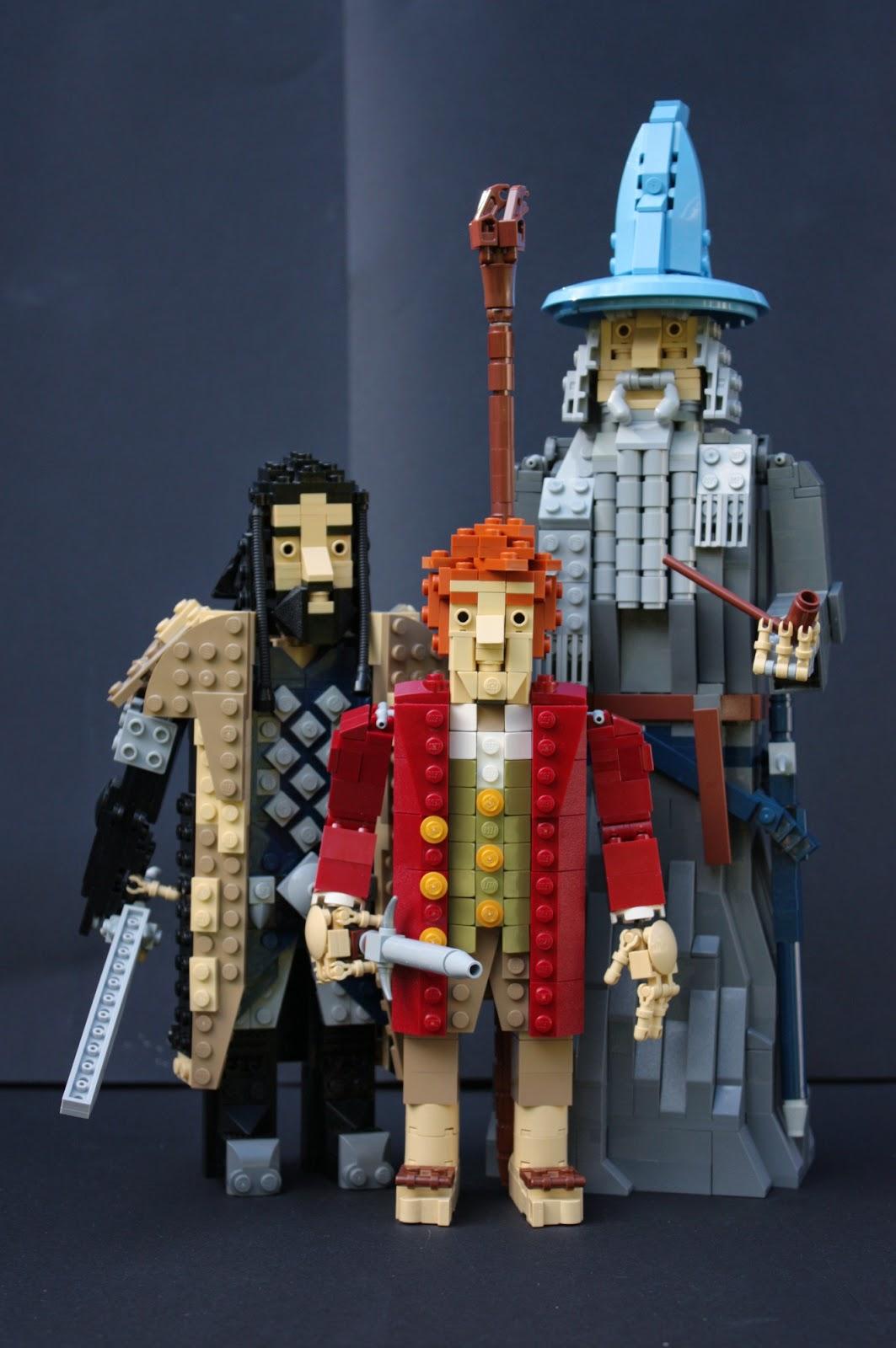 La compagnia de Lo Hobbit ricreata in Lego
