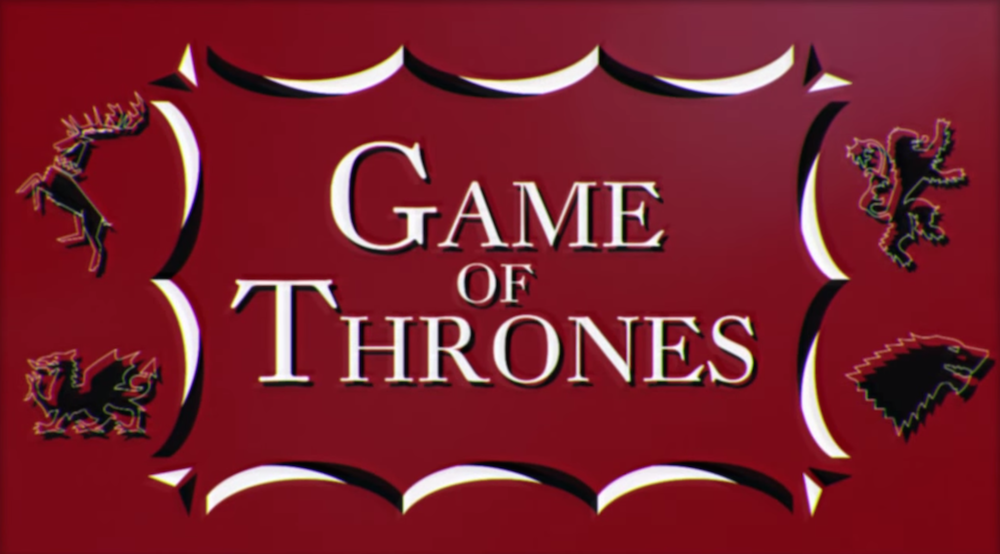 Game of Thrones in stile Saul Bass