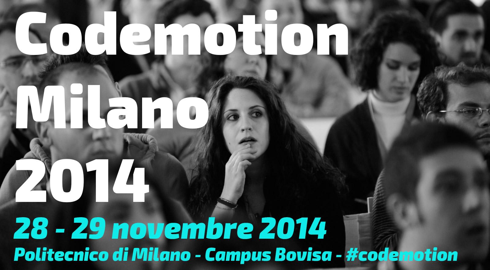 Codemotion Milano 2014