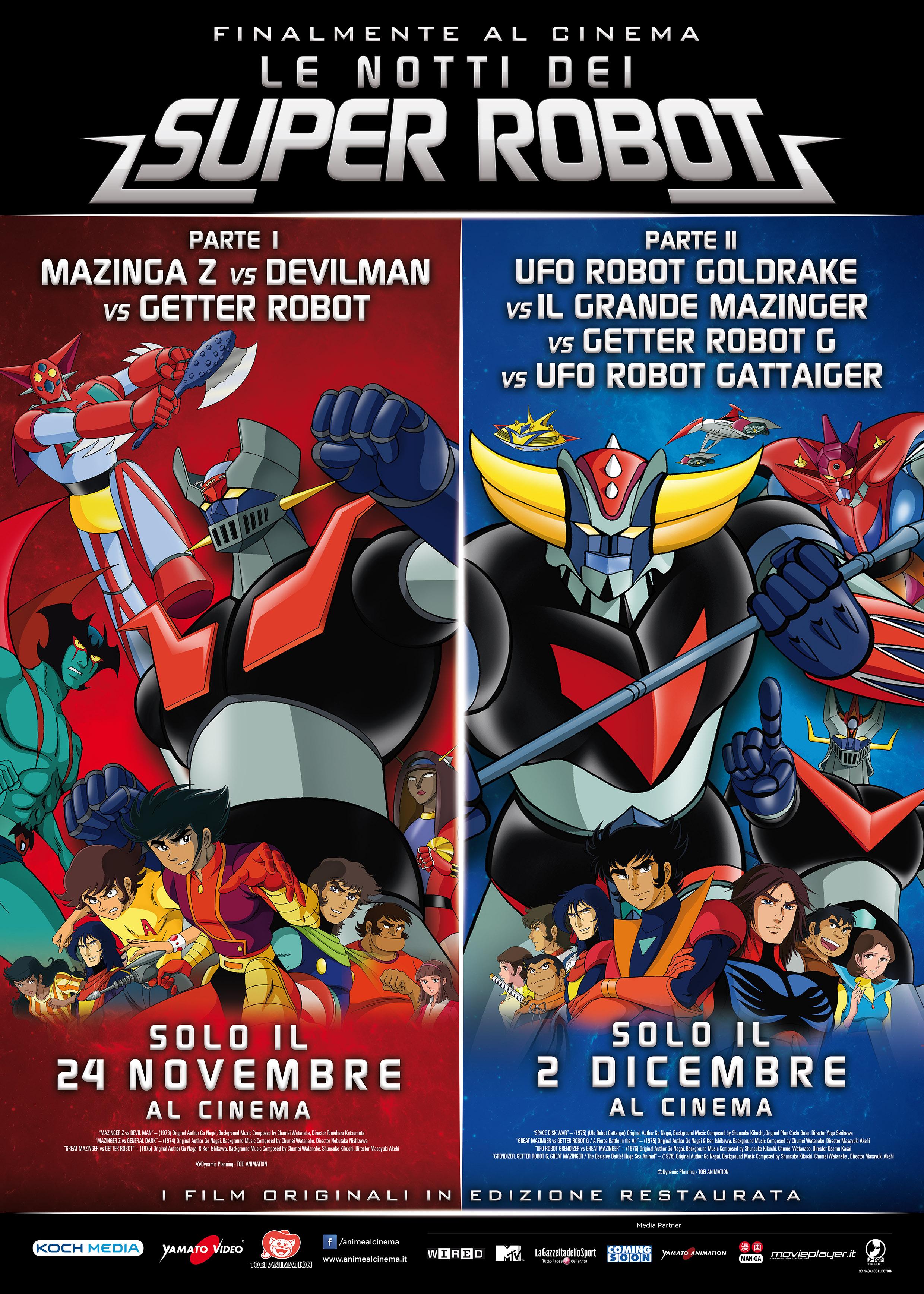 Le notti dei Super Robot: La prima parte arriva il 24 novembre!