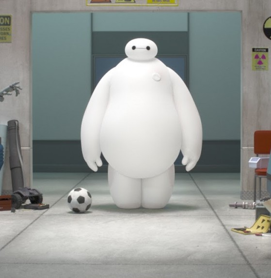 Baymax sembra un mix tra l'omino Michelin e il Marshmallow Man dei Ghostbusters
