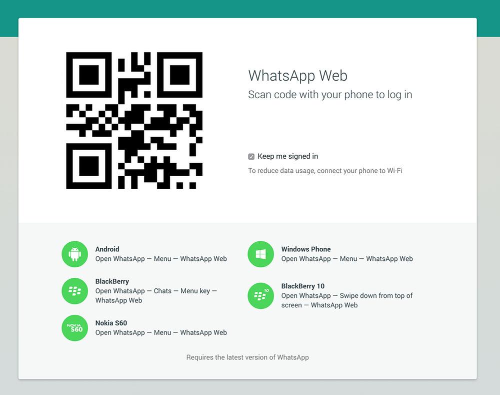 WhatsApp via web, per tutti ma non per iOs