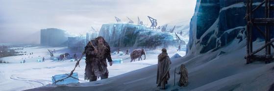 La costruzione della Barriera (Martin, G.R.R., Garcìa, E.M., Antonssen, L., 2014. The World of Ice and Fire: the Untold History of Westeros and The Game of Thrones).