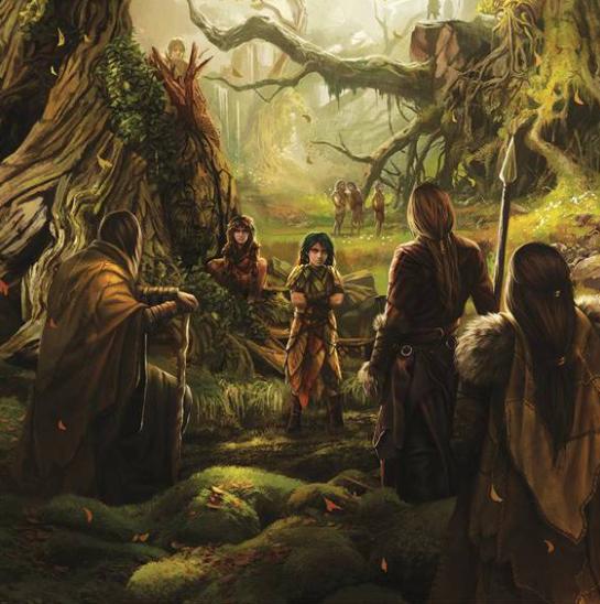 I Figli della Foresta stringono il Patto con i Primi Uomini (Martin, G.R.R., Garcìa, E.M., Antonssen, L., 2014. The World of Ice and Fire: the Untold History of Westeros and The Game of Thrones).