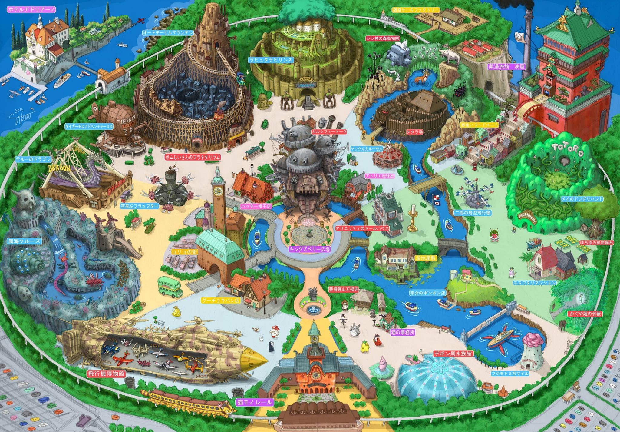 Ghibli Land, il concept del parco tematico