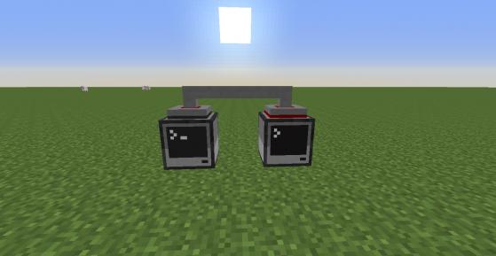 Due computer collegati tra loro tramite wired modem. Il funzionamento del programma al loro interno è lo stesso del precendente.