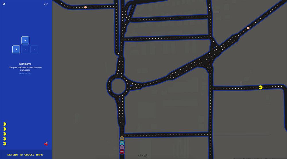 Gioca a Pac-Man su Google Maps, adesso.