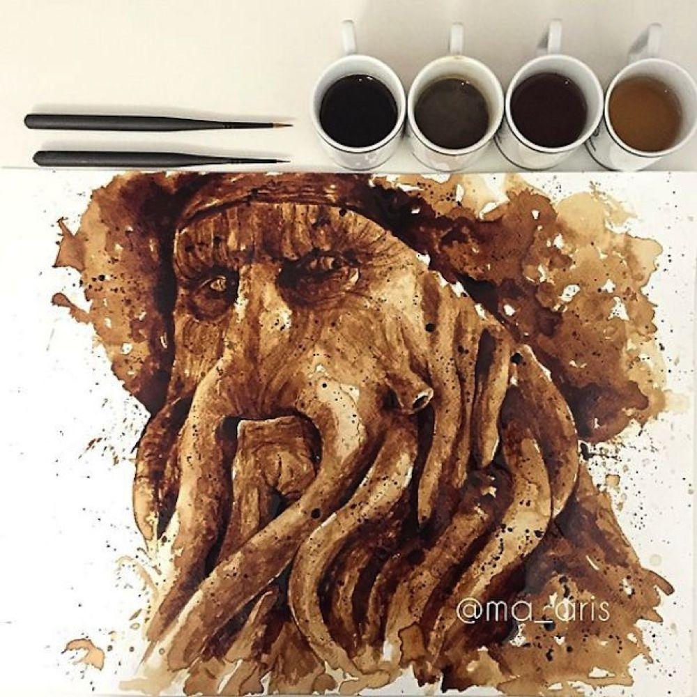 I dipinti al caffè di Maria A. Aristidou