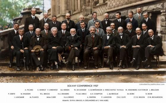 Conferenza di Solvay del 1927, riunione delle più grandi menti della prima metà del '900
