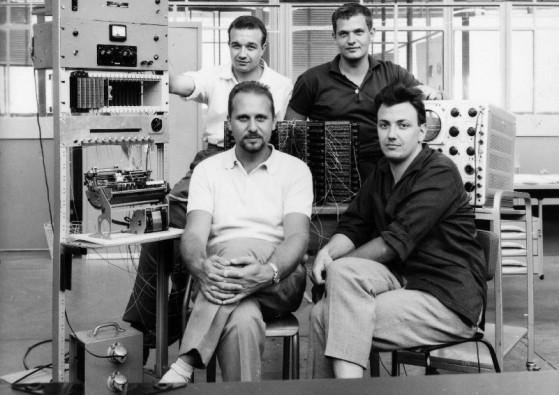 Il gruppo di progetto della P101. (via storiaolivetti.it)
