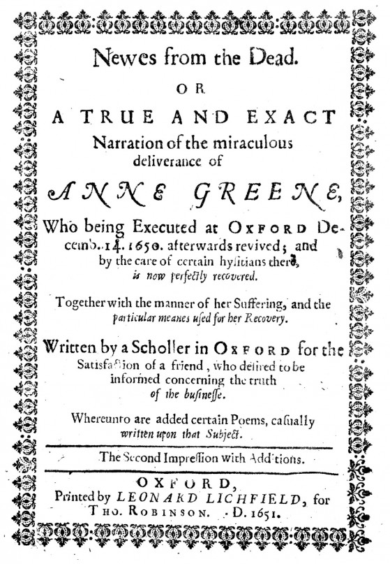 L0020243 'A Scholler in Oxford' {R. Watkins}, title page. Credit: Wellcome Library, London. Wellcome Images images@wellcome.ac.uk http://wellcomeimages.org Title page. 'A Scholler in Oxford' {R. Watkins}, News from the dead R. Watkins Published: 1651 Copyrighted work available under Creative Commons Attribution only licence CC BY 4.0 http://creativecommons.org/licenses/by/4.0/