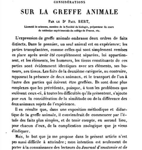 greffe animale