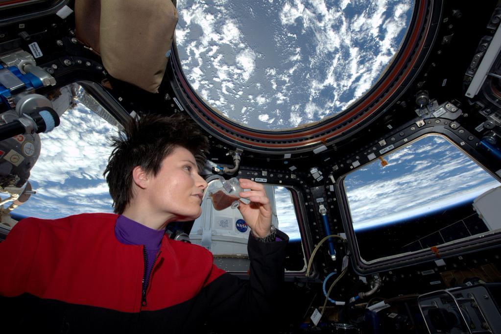 Samantha Cristoforetti e il primo ISSpresso spaziale