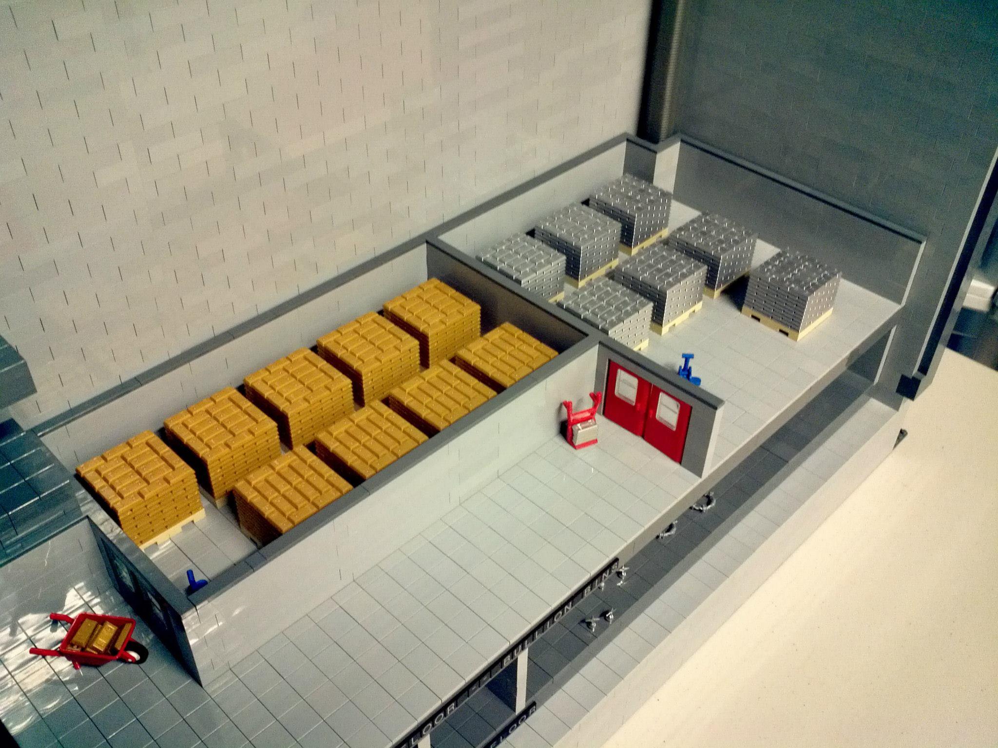 Il deposito di zio paperone completamente in lego leganerd for Piano di deposito